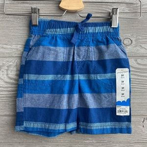 2T striped pull-on shorts NEW WITH TAGS